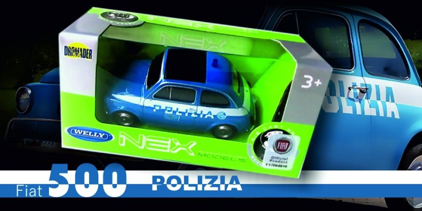 Fiat 500 POLIZIA(WELLY)