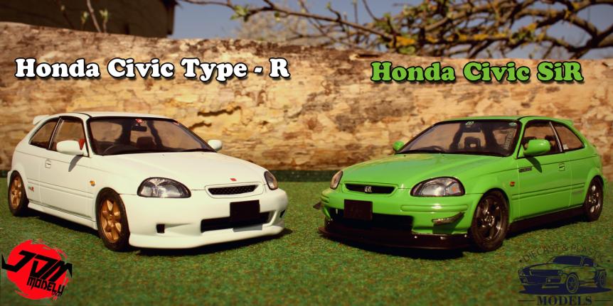 Honda Civic Type R(EK9) & Honda Civic SIR(EK4)