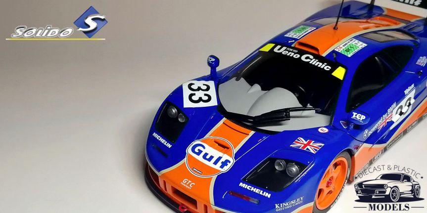 McLAREN F1 GTR 1996 GULF RACING (1/18,SOLIDO)
