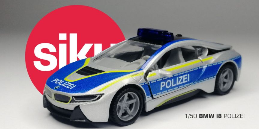 BMW i8 POLIZEI (1/50,SIKU)